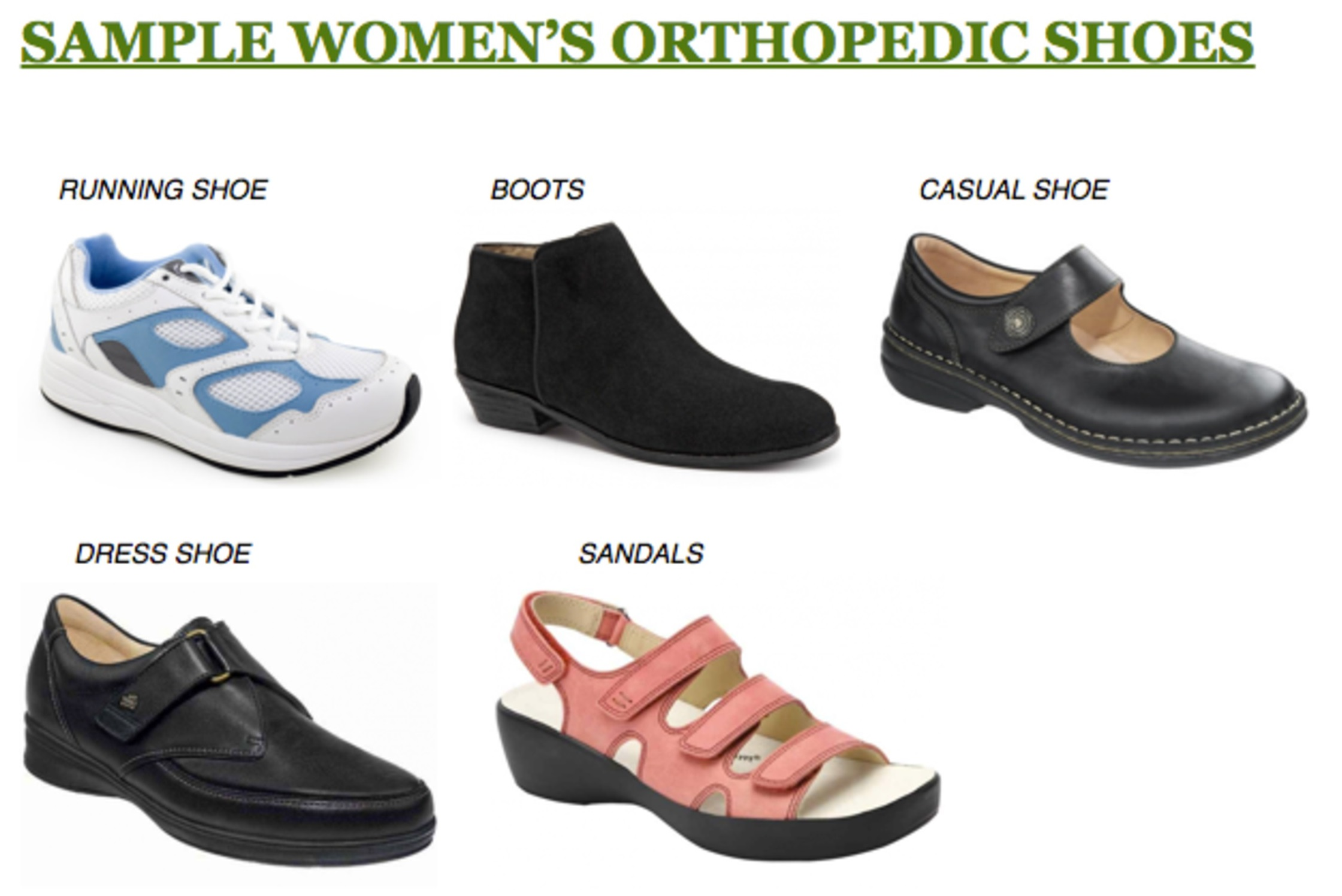 80f243909c Orthopedic Shoes Carried by The Brampton Foot Clinic: